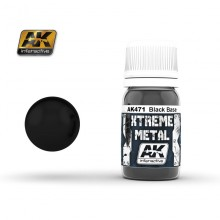 XTREME METAL BLACK BASE 30 ML.