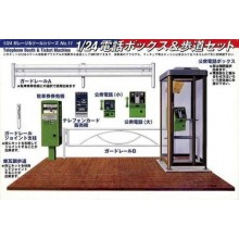 Telephone Booth & ticket machine 1/24