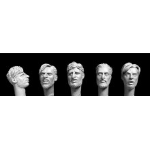 5 unkempt heads with beards (eg SAS, Chindits, LRDG, irregulars, partisans) 1/35