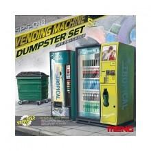 Vending machine,Dumpster set 1/35