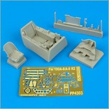 FW 190 A-8 COCKPIT SET 1/48 AIRES