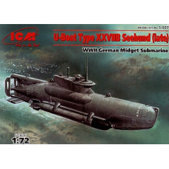 Type XXVIIB U-Boat Seehund late version midget submarine 1/72