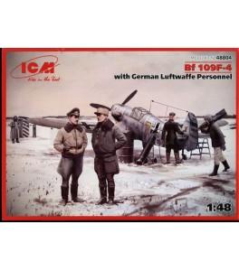 Messerschmitt Bf 109F-4 with German Luftwaffe Personnel  1/48