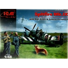Supermarine Spitfire with Pilots, Ground crew 1/48