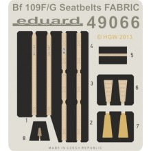 Bf 109F/ G seatbelts FABRIC 1/48