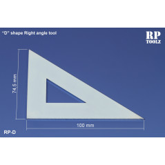 D shape right angle tool