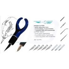 Cutter de precisión giratorio con accesorios