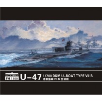 U-boat Type VII B DKM U-47(2pieces) 1/700