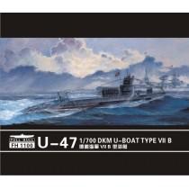 U-boat Type VII B DKM U-47(2pieces) 1/700