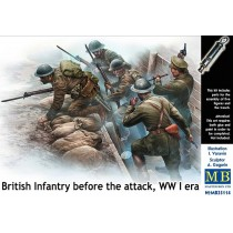 British Infantry, Before the attack, WWI era 1/35