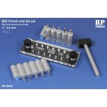BIG Punch & Die tool set,2 to 4.5 mm.