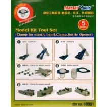 Model Kit Tool Set Clamp for elastic band, Clamp, Bottle Opener