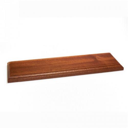 Peana madera barnizada 300x100x20 mm.