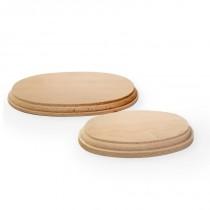 Peana ovalada madera 210x130x20