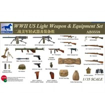 WWII US Light Weapon & Equipment Set 1/35