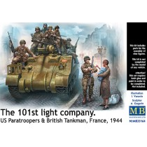 The 101st light company, US Paratroopers & British tankman France 1944 1/35