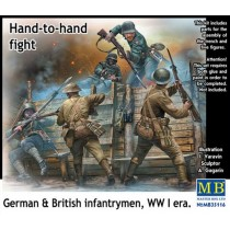 Hand to Hand Fight, German and British Infantrymen, WWI 1/35