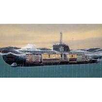 Type XXI U-Boat U-2540 With interior detail. 1/144