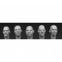 5 heads with various European faces 1/35