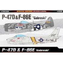 """Republic P-47D & North American F-86E """"Gabreski"""" /72"""