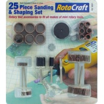 Rota Craft 25 Pce Sanding & Shaping Set