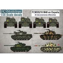 M-48 en España, calcas 1/35