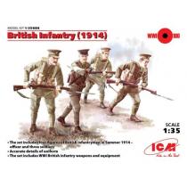 British Infantry 1914 WWI (4 x Figures) 1/35