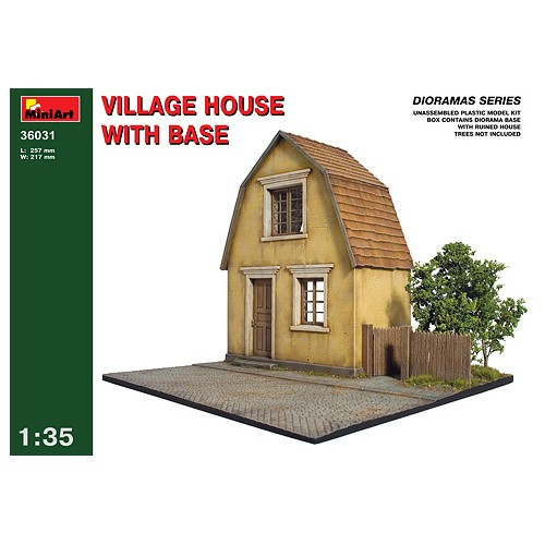 Village House front and diorama base  1/35