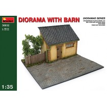 Barn front with diorama base  1/35