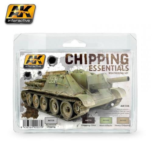 AK138 CHIPPING ESSENTIALS WEATHERING SET