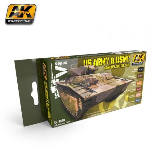AK4220 US ARMY & USMC CAMOUFLAGE COLORS