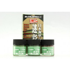 MR. COLOR-JAPANESE NAVAL CAMOUFLAGE COLOR SET