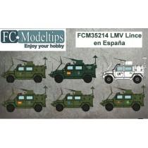 Calcas para el LMV Lince en España  1/35
