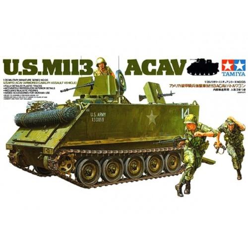 M4A3 SHERMAN 75MM.+FIGURES 1/35 TAMIYA