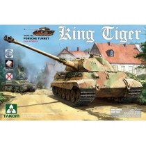 WWII German Heavy Tank Sd.Kfz.182 King Tiger Porsche Turret with interior 1/35