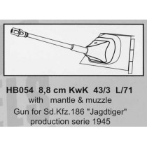 8,8 cm KwK 43/3L/71 with mantlet & muzzle, for Sd.Kfz.186 Jagdtiger, serie 1945 1/35