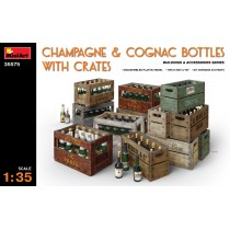 Champagne & Cognac Bottles with Crates 1/35