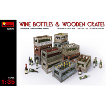 Wine, Beer, Milk Bottles & Wooden Boxes 1/35