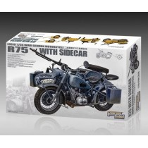 WWII German Motorcycle R75 with Sidecar 1/35