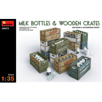 Milk Bottles and Wooden Crates 1/35