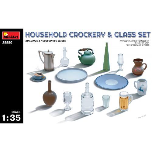 Household Crockery & Glass Set