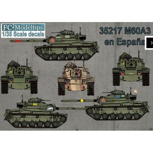 35217 M60 en España, calcas escala 1/35