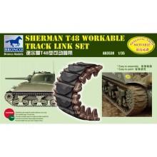Sherman T48 Workable Track Link Set 1/35