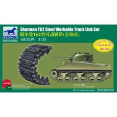 Sherman T62 Workable Track Link Set 1/35
