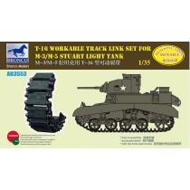 T16 Workable Track Link Set for M3/M5 Staurt Light Tank 1/35