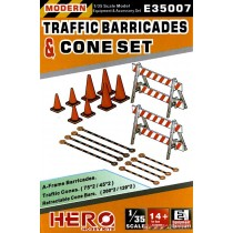 A-Frame Barricades Traffic & Cone Set 1/35