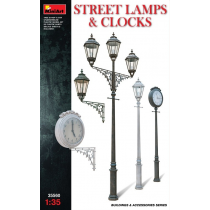Assorted Street Lamps & Clocks 1/35