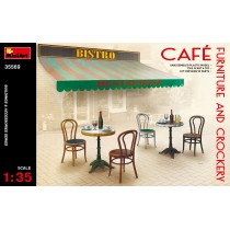Cafe Furniture (tables and chairs) & Crockery 1/35