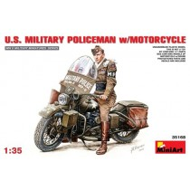 US Military Policeman with MotorcycleI 1/35