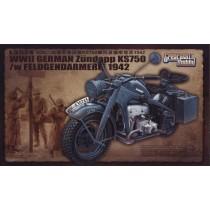 WWII German Motorcycle Zundapp KS750 w/feldgendarmerie 1942 1/35